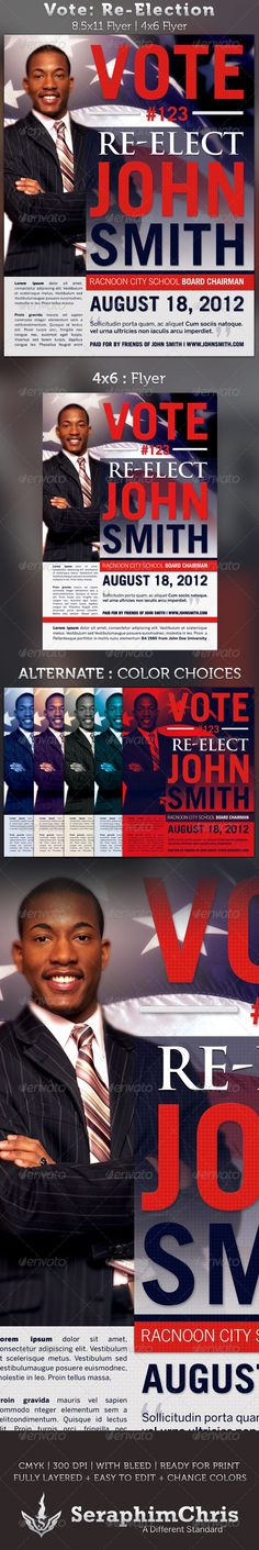 1000 images about election flyers on pinterest flyer for Voting flyer templates free