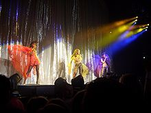 """Destiny's Child performing """"Say My Name"""", a single that garnered critical and commercial success, along with two Grammy Awards"""