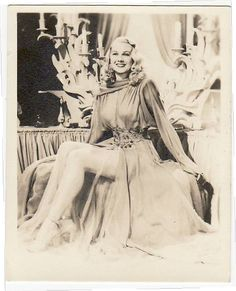 Actress Model Joan Caulfield from the 1940's in a lovely negligee