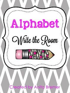 FREE Alphabet Write the Room Pack