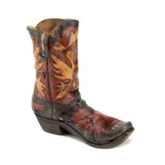 Rustic And Western Inspired Boot Wine Bottle Holder Designed To Look Well Worn