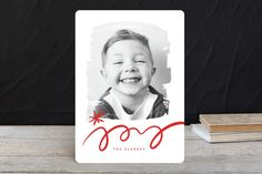Brushed Joy Holiday Photo Cards by fatfatin at minted.com