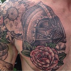 Darth Bader Dot Work and Geometric Madness.  #StarWars #Tattoo #StarWarsTattoo