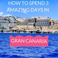 See my full itinerary of how my family spent 3 amazing days in Gran Canaria, Spain. Visiting Northern and Southern Gran Canaria. Come along on our visit to the historic sites, beautiful sunny beaches, and adventures. This beautiful island is amazing. Enjoy the gorgeous Atlantic Ocean, while snorkeling or jetskiing, or just enjoy the amazing views of the volcanic mountains. You will fall in love with this island. #Grancanaria, #spain, #island, #beach, #mountains, #atlanticocean, #vacation Spain Travel Guide, Europe Travel Tips, European Travel, Travel Guides, Travel Destinations, Travel With Kids, Family Travel, Beautiful Islands, Beautiful Places