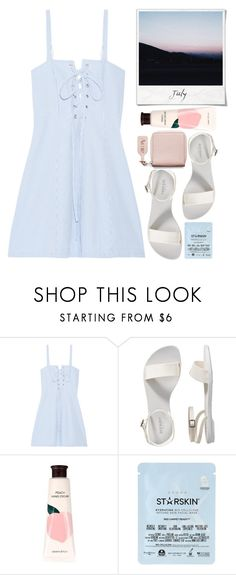 """""""July."""" by just-a-girl-with-thoughts ❤ liked on Polyvore featuring Solid & Striped, Old Navy, Polaroid, Innisfree, Starskin and Acne Studios"""