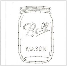 Mason jar numbered template for string art you can resize this to fit your project create your favorite string art with yarn twine string or embroidery thread drill holes first then nail in nails for straight uniform nails diy masonjar mason jar stringart String Art Templates, String Art Tutorials, String Art Patterns, Mason Jar Crafts, Mason Jar Diy, Twine Crafts, Diy Crafts, Decor Crafts, Wood Crafts