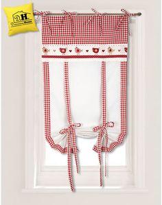 Tenda finestra Angelica Home & Country Collezione San gallo in fattoria Rosso 60 x 160 cm