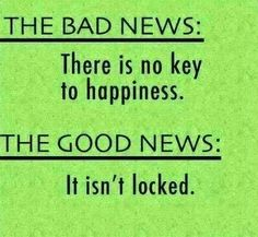 There is no key to happiness
