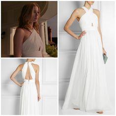 Revenge - Serie TV - look - style - estilo - inspiration - inspiração - moda - fashion - dress - vestido - white - branco - long - longo - elegante - elegant - Alice & Olivia - Amanda Clarke - Emily Thorne (Emily VanCamp)