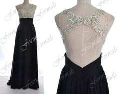 Black Prom Dresses Black Formal Dresses Straps Lace/ by Formals, $169.00