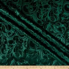 Unique Quality Fabrics Embossed Velvet Scroll Fabric, Forest, Fabric By The Yard Glam Living Room, Living Room Green, Green Velvet Fabric, Coachella Looks, Gold Aesthetic, Green Theme, Toss Pillows, Color Pallets, Home Decor Styles