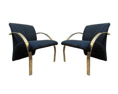 There are just no words! RARE Pair DIRECTIONAL Brass Lounge Arm Chairs * Cardin Baughman Kagan Paul Evans #Directional