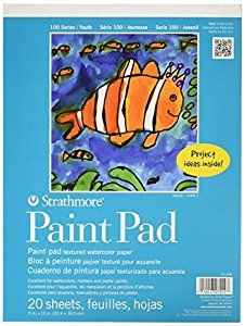"""Amazon.com : Strathmore STR-27-209 20 Sheet Kids Paint Pad, 9 by 12"""" : Drawing Pads And Books : Office Products"""