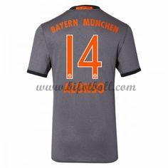 Billiga Fotbollströjor Bayern Munich 2016-17 Alonso 14 Kortärmad Borta Matchtröja