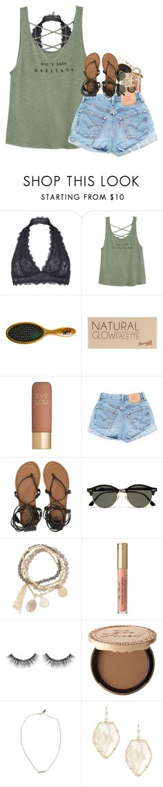 """""""Just got my retainer"""" by pineappleprincess1012 ❤ liked on Polyvore featuring Free People, Barry M, Eve Lom, Billabong, Ray-Ban, DesignSix, Sephora Collection, Too Faced Cosmetics, Devon Pavlovits and Kendra Scott"""