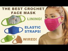 😍 Today I am going to show you how to crochet a super easy crochet mask that you can actually wear outside, it has a lining and also elastic . Crochet Eyes, Crochet Mask, Crochet Chart, Cute Crochet, Easy Crochet, Crochet Stitches, Crochet Patterns, Crochet Squares, Easy Face Masks