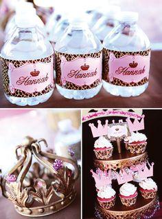 pink and leopard princess party  http://www.etsy.com/shop/atozebracelebrations  @atozebracelebrations   #kidsparty  #princessparty  #birthdayparty