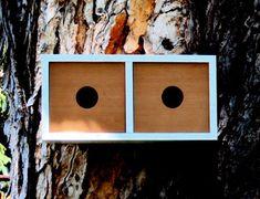 mid century modern redwood birdhouse modern birdhouses