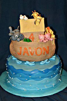 Noah's Ark Birthday Cake.