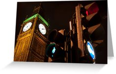 Send some in the shape of these Greeting Cards from our Low Light London series Traffic Light, Green Man, Low Lights, Big Ben, Greeting Cards, Shape, London, Building, Red