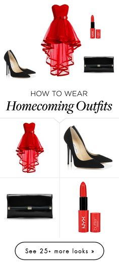 """Bez naslova #8"" by alma-nerma on Polyvore featuring Jimmy Choo and Diane Von…"