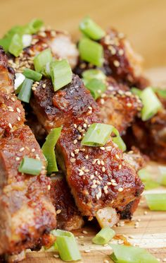Korean-Style Ribs - we use fa-ribs from  The Herbivorous Butcher
