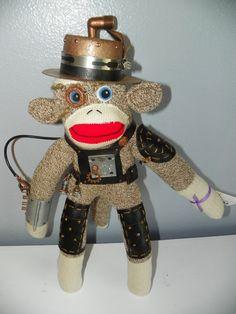 Steampunk Sock Monkey  $65.00