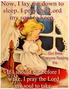 Children's good night prayer