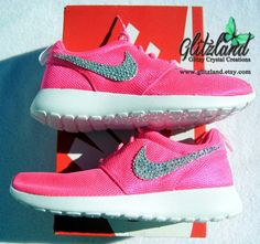 Back in Stock!!  Pink Nike Roshe Run Shoes