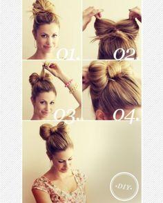 How to do a bow bun
