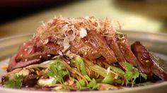 Soba Noodle Salad With Seared Wagu Beef: http://gustotv.com/recipes/salads/soba-noodle-salad-seared-wagu-beef/