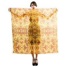 Honeycomb Silk Oversized Scarf | KathKath Studio | Wolf & Badger