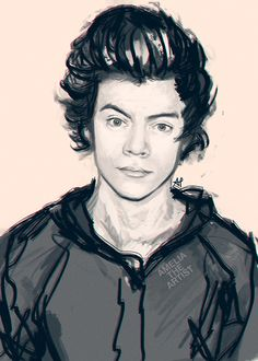 I luv Harry styles, whoever drew this is a really good artist.