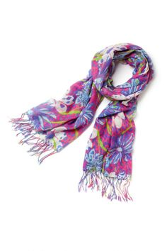 I also received this lilly pulitzer  scarf to match the wristlet for graduation