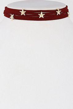 Layered Star Choker Necklace Set