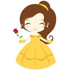 SVG files and clipart for scrapbooking and paper crafts Disney Babys, Cute Disney, Disney Art, Beauty And The Beast Party, Belle Beauty And The Beast, Disney Clipart, Cute Clipart, Stickers Kawaii, Disney Kunst