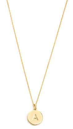 ¡Consigue este tipo de collar de Kate Spade New York ahora! Haz clic para ver los detalles. Envíos gratis a toda España. Kate Spade New York Letter Pendant Necklace: A fine gold-tone chain suspends a disc pendant with a letter engraving detail. Adjustable length and lobster-claw clasp. Gold plate. Imported, China. Additional jewelry sold separately. Measurements Length: 17.25-20in / 43.5-51cm Pendant length: 1in / 2.5cm (collar, cadena, cadenas, collera, colleras, collar, colgante…