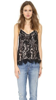 Madison Marcus Flutter Lace Camisole