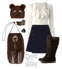 Dare To Bear by promisemethemoon on Polyvore featuring polyvore, fashion, style, RED Valentino, Sonia Rykiel, Yves Saint Laurent and San Diego Hat Co.