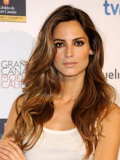 Ariadne Artiles has one of the greatest brown-hair highlighting jobs I've ever seen!