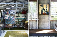 Australian painter David Bromley's backyard studio