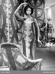 Textile Design. Mannequin / dress with patterns of Viola Gråsten.