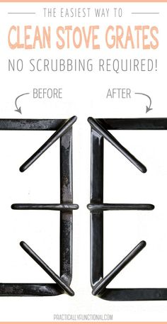 The Absolute Best Way to Clean Stove Top Grates - Cleaning Hacks Deep Cleaning Tips, House Cleaning Tips, Cleaning Solutions, Spring Cleaning, Cleaning Hacks, All You Need Is, Clean Stove Grates, Cleaning Stove Burners, Cleaning Painted Walls