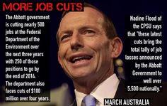 More job cuts from #onetermtony