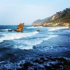 Playa de Aguilar #MurosdelNalón #Asturias