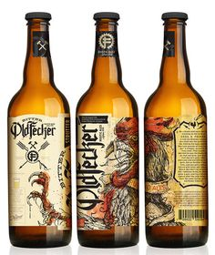 Bitter Old Fecker * Designed by Neltner Small Batch *** Neltner Small Batch has partnered with a brewery in Ann Arbor to launch Bitter Old Fecker Rustic Ales, a small, hand numbered product. *** #beer #label #ohbeautifulbeer