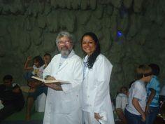 Cristina Vásquez e Adonai Vásquez -  criadores e mantenedores da rádio de  agosto a dez de 2011