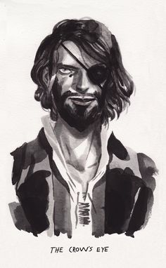 """Euron Greyjoy by Sam Bosma. """"Every man there knew that the Doom still ruled Valyria. The very sea there boiled and smoked, and the land was overrun with demons. It was said that any sailor who so much as glimpsed the fiery mountains of Valyria rising above the waves would soon die a dreadful death, yet the Crow's Eye had been there, and returned."""""""