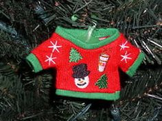 2014 Ugly Knit Sweater Ornament from Dunkin Donuts