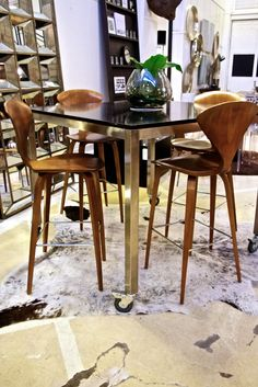 One day I will have these. Surprisingly comfortable too! Cherner Stools by Norman Cherner